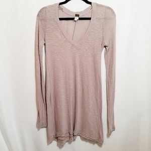 Free People Anna Distressed Long Sleeve Top